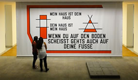 Lawrence Weiner, myhouse, 2015